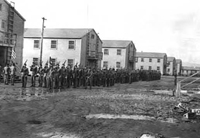 Co B in formation at Camp White 1943