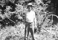 Jack Burk near the woods at Camp White