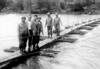 Foot bridge built in training at Camp White