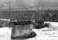 Removal of a Class 40, 120 foot double, single Bailey Bridge
