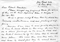 Letter to Col Crandall from Silas Wright