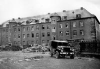 Battalion repairing building for hospital occupancy