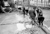 Civilians at Fritzdorf repairing a culvert