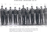BN headquarters officers at Camp White Oregon February 1943