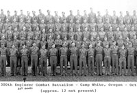 Company C 300th Engineer Combat Battalion Camp White Oregon October 1943