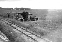 Damaged German equipment