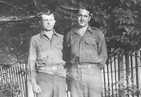Bill and Lt Doughertory after V-E Day in Weisenburg, Germany