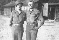 Bill and Roderick Queen after V-E Day in Weisenburg, Germany