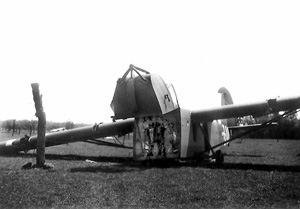 Allied glider in Normandy