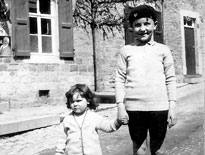 Children in a village or town in Western Europe during WWII