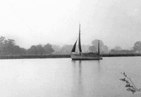 Sailboat on the Thames in Maple Durham