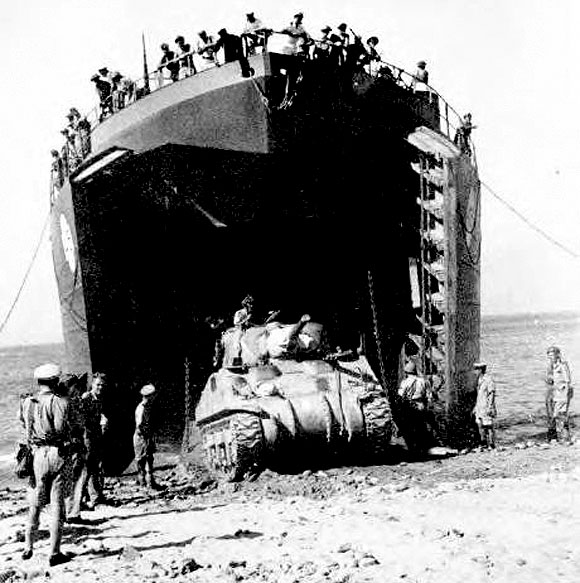 LST at Sicily