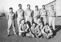 Camp White. Charles Cantrell, Jerry Urbis, Charles Olive, Roy Welchel, Gillespie, Travis White, Wayne Long, Cots Shannon, Charles Dennis, and Clarence Holamon