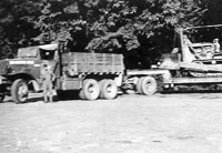 300th Engineers with Diamond T hauler and dozer