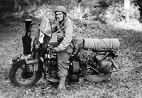William White and fully equipped motorcycle