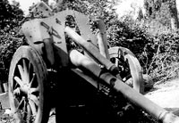 Abandoned German artillery, most likely in France