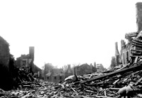 Allied bombing leveled town likely in Normandy, France