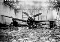 Destroyed hangar and aircraft likely in Germany