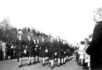 Women's Auxiliary Air Force on parade in London, England