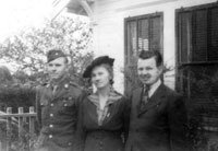 Cpl. Don Richter, his mother Emilie, and brother, John