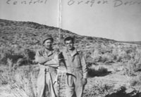 Mills and Tom R. in the central Oregon Desert