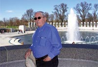 Jerry Barton at WWII Memorial in Washington DC 2007