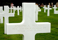 Normandy 2005 300th engineer Joseph Tolbert perished on LST 523 Collierville