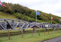 Normandy 2005 bridge exhibit near Utah Beach