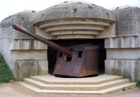Normandy 2005 Longues Sur Mer a German bunker
