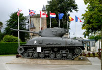 Normandy 2005 tank at Ste Mer Eglise Museum