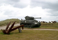 Normandy 2005 Utah Beach tank and German barriers