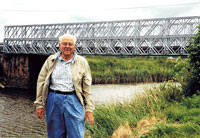 Warren Chancellor at Tucker Bridge in Carentan in 2003