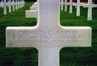 Gravestone of Donald C. Basney