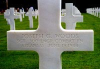 Gravestone of Joseph E. Woods