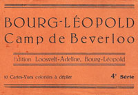 Cover from a book of 10 color postcards of views of Camp de Beverloo