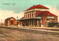 Postcard of the train station
