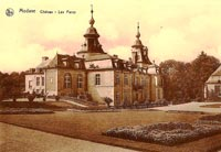Postcard of the chateau at Modave