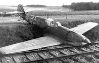 Downed German ME-109