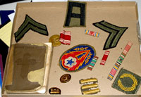Don Richters war medals and personal items